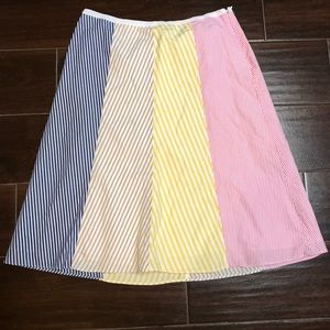 Woman's colored stripped skirt by J Crew 2